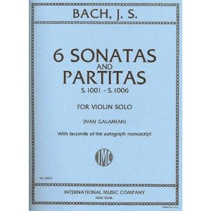 Bach, J.S. - 6 Sonatas and Partitas BWV 1001 1006 for Violin -by Galamian - International